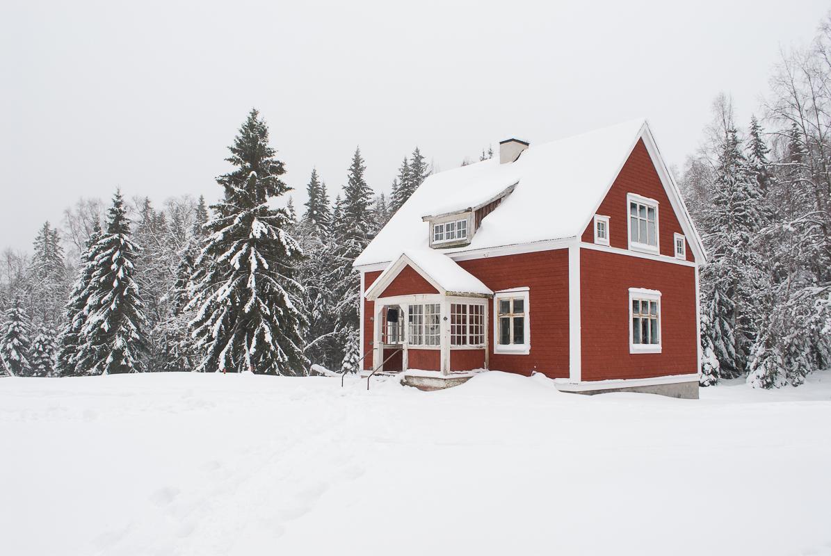 Huset i sne